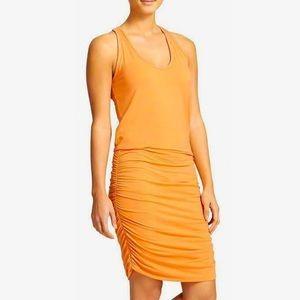 ATHLETA   Orange Cinched Side Racerback Dress